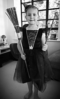 Introducing our GOOD little witch. B Lloyd is very insistant that she is a GOOD witch, not a bad one. For all those eagle eyed Harry Potter fans out there – yes that is a real Harry Potter (o… Photos Of The Week, Witch, Harry Potter, Witches, Maleficent
