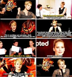 Jennifer Lawrence funny quotes catching fire