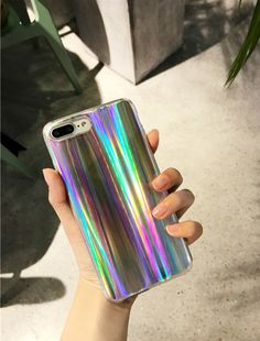 SELL!!!! ONLY $11.99!!! iPhone 8/7 Case, Rave Psychedelic Holographic Cool Sparkle Bling Glitter Shiny Rainbow Designer Cover With Laser Pattern, [Extra Thin Soft TPU Protective Case] for iPhone