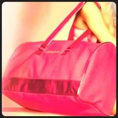 """I just added this to my closet on Poshmark: """"VICTORIA'S SECRET"""" LARGE DUFFLE BAG! PINK NEW. Price: $50 Size: LARGE"""