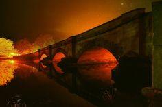 Ross Bridge at night - Tasmania - photo by gasgasLex