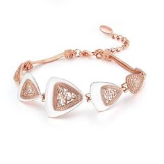 Triangular Rose Gold Color Bracelet