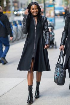 Sharam Diniz - We imagine this is what Diniz's lab coat would look like if she was a mad angel scientist. #refinery29 http://www.refinery29.com/victorias-secret-angel-model-off-duty-street-style#slide-23