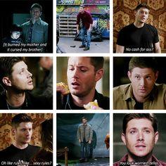 Season 10 Dean being adorable [gifset]