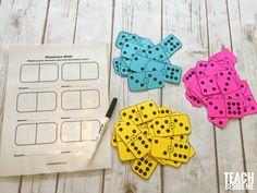 Printable Math Dominoes