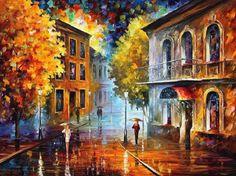 Les peintures à l'huile texturées reflètent les souvenirs romantiques de Leonid Afremov (11)