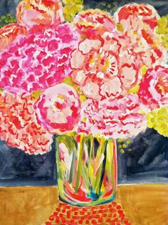 Peonies of Peace, Flower Painting, 16 x 20 Original Acrylic Painting