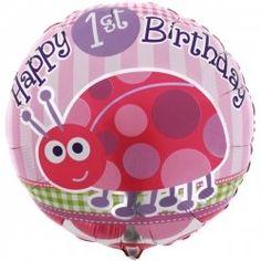 1st Birthday Ladybug Foil Balloon-www.onestopkidspartyshop.com.au