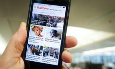 phone screen on Buzzfeed website