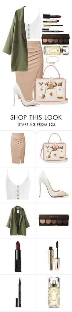 """""""Untitled #1636"""" by fabianarveloc on Polyvore featuring Dolce&Gabbana, Zimmermann, Christian Louboutin, NARS Cosmetics, L'Oréal Paris, Smith & Cult, Lancôme and Cartier"""