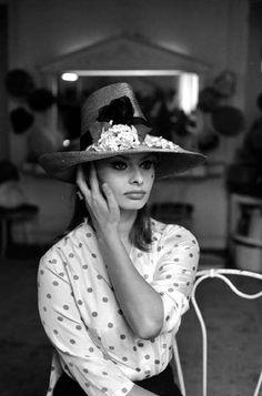 Sophia Loren, actrice italienne. Paris, 11 février 1960.                     LIP-034284-007