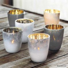 Roost Mineral Tealight Holders   Set Of 12