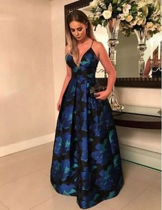 elegant v-neck prom party dresses , fashion formal evening gowns, chic dresses for special occasion