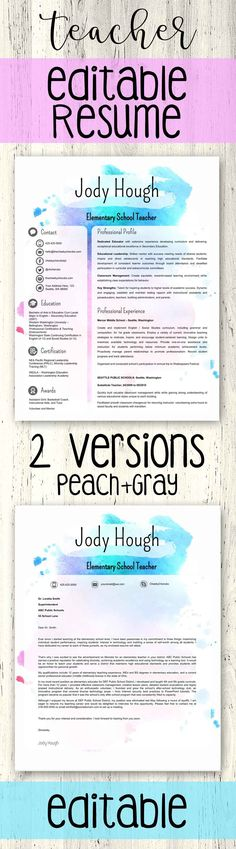 """***THIS TEMPLATE WILL BE 50%OFF FOR 48 HOURS - ENJOY!***  Teacher Resume Template 