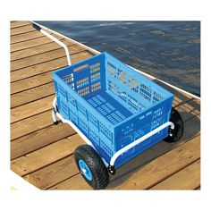 Never wait or search for a #dock #cart again!  With your own collapsible cart, it's always there when you're ready for it! Taylor Made Collapsible Dock Cart