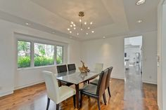 A formal dining room is adjacent to the kitchen.
