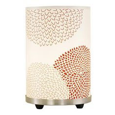 Lights Up! Red Mumm Small Meridian Accent Table Lamp