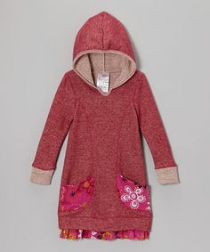 Look what I found on #zulily! Red Hooded Sweater Dress - Toddler & Girls #zulilyfinds