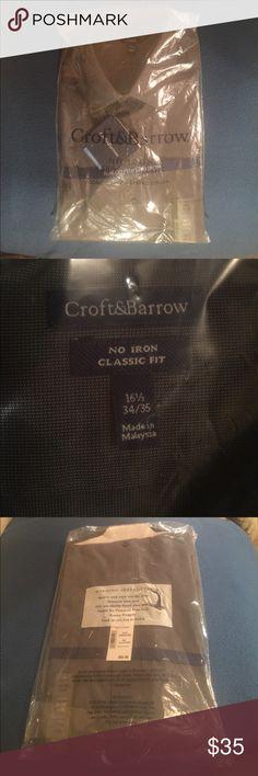 Dark Gray Dress Shirt by Croft & Barrow Dark Gray Dress Shirt by Croft & Barrow Croft & Barrow Shirts Dress Shirts