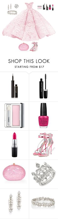 """""""like Charlotte la Bouff (the Princess and the Frog)"""" by sky-memories ❤ liked on Polyvore featuring Lancôme, Marc Jacobs, Clinique, OPI, MAC Cosmetics, Dolli, Ben-Amun and Monique Péan"""