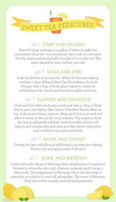 Southern Weddings - Sweet Tea Pedicures
