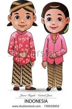 Vector illustration, Javanese traditional  clothing