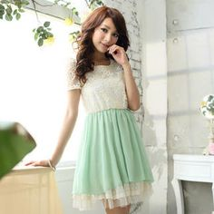 Buy 'Tokyo Fashion – Lace Panel Layered Chiffon Dress' with Free International Shipping at YesStyle.com. Browse and shop for thousands of Asian fashion items from Taiwan and more!
