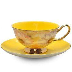 Yellow Satin Shelley Tea Cup
