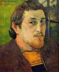 Self Portrait at Lezaven : Paul Gauguin : Museum Art Images : Museuma