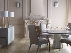 Jean Louis Deniot's Heliodor Dining Table is #glam at it's finest!