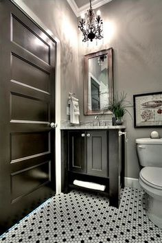 Black And White Tile Bathroom Ideas | Black And White Tile Flooring Design  Ideas, Pictures