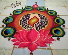 Diwali Special Rangoli Design, Easy Rangoli Designs Diwali, Rangoli Designs Latest, Simple Rangoli Designs Images, Rangoli Designs Flower, Free Hand Rangoli Design, Small Rangoli Design, Colorful Rangoli Designs, Rangoli Ideas