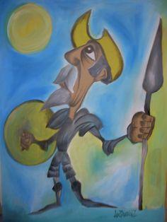Dom Quixote - Guache
