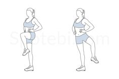 The standing open the gate targets the inner thigh muscles and strengthens your core and glutes. This exercise also enhances your balance and stability and warms up the hip flexors and groin area. http://www.spotebi.com/exercise-guide/standing-open-the-gate/