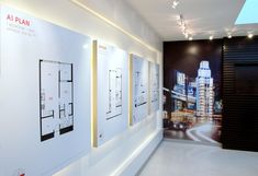 Fun Office Design, Cool Office, Graphic Designer Office, Environmental Design, Environmental Graphics, Museum Exhibition Design, Sales Center, Leasing Office, Real Estate Office