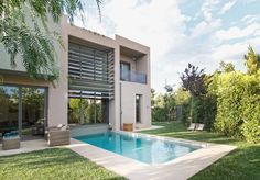 Private sustainable residence in Kifissia Melbourne Travel, Landscaping Melbourne, Outside Living, Lighting Design, Backyard, Construction, House Design, Mansions, Architecture