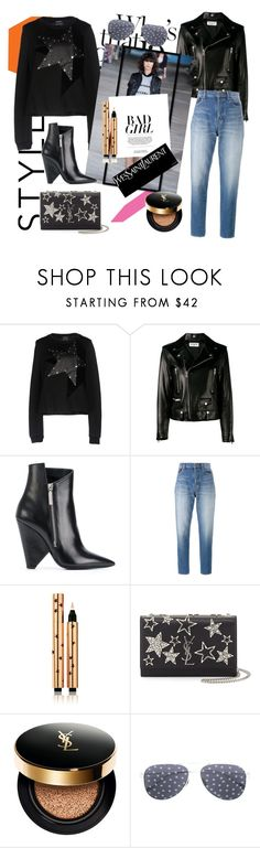 """YSL + Anthony Vaccarello"" by tiraboschi-b ❤ liked on Polyvore featuring Anthony Vaccarello and Yves Saint Laurent"
