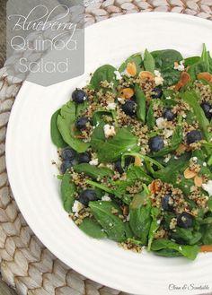 Blueberry quinoa sal