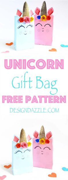 Do It Yourself Pet Property Guidance And Schematic Data We Are Sharing Simple Step By Step Instructions For These Adorable Unicorn Gift Bags Plus A Free Pattern Design Dazzle Unicorn Birthday Parties, Unicorn Party, 9th Birthday, Girl Birthday, Birthday Ideas, Unicorn Gift Bags, Diy For Kids, Crafts For Kids, Paper Crafts