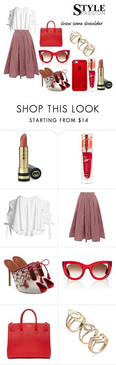 """""""style passion"""" by sandrine-pereira ❤ liked on Polyvore featuring Gucci, Teeez, Caroline Constas, Tome, Malone Souliers, Thierry Lasry and Off-White"""
