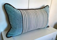 Spring colorful striped decorative pillow cover by StyleAndDeco