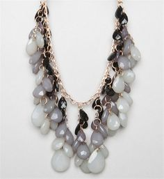 Grey Tones/Black Stone Statement Necklace from Windsor.com