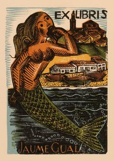 Exlibris by Antoni Gelabert from Spain for Jaume Gual, Art-exlibris.net