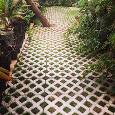 Our Diagonal Grass Stones #TGIF #ARCOD #Architecture #Construction #Design #Concrete #Landscaping #Stones #MadeInHaiti #Local #Production #PortAuPrince #Haiti 🇭🇹 #KaribeHotel