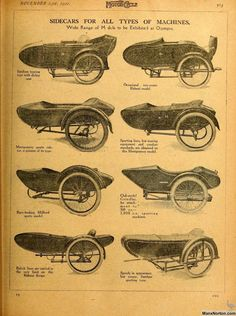 Sidecars for All Types of Machines Bike With Sidecar, Sidecar Motorcycle, Antique Motorcycles, Cool Motorcycles, Types Of Machines, Scooter Bike, Motorcycle Posters, Bike Trailer, Prop Design