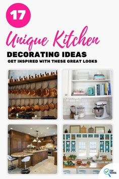 17 Unique Kitchen Decorating Ideas: Get Inspired With These Great Looks Home Design Living Room, Decor, Kitchen Remodel Small, Kitchen Decor, Pinterest Home, Affordable Interiors, Kitchen Redo, Kitchen Design Decor, Home Decor