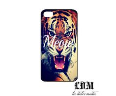 MEOW TIGER phone case iPhone 4 iPhone 4s iPhone 5 hard plastic case trending adorable. $13.99, via Etsy.