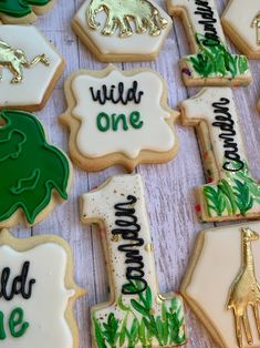 Monkey First Birthday, First Birthday Cookies, Boys 1st Birthday Party Ideas, First Birthday Parties, First Birthdays, Baby Birthday, Animal Birthday, Third Birthday, Royal Icing Cookies