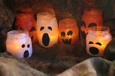 Great Halloween decoration using mason jars!