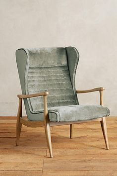 Slub Velvet Roadway Chair - anthropologie.com